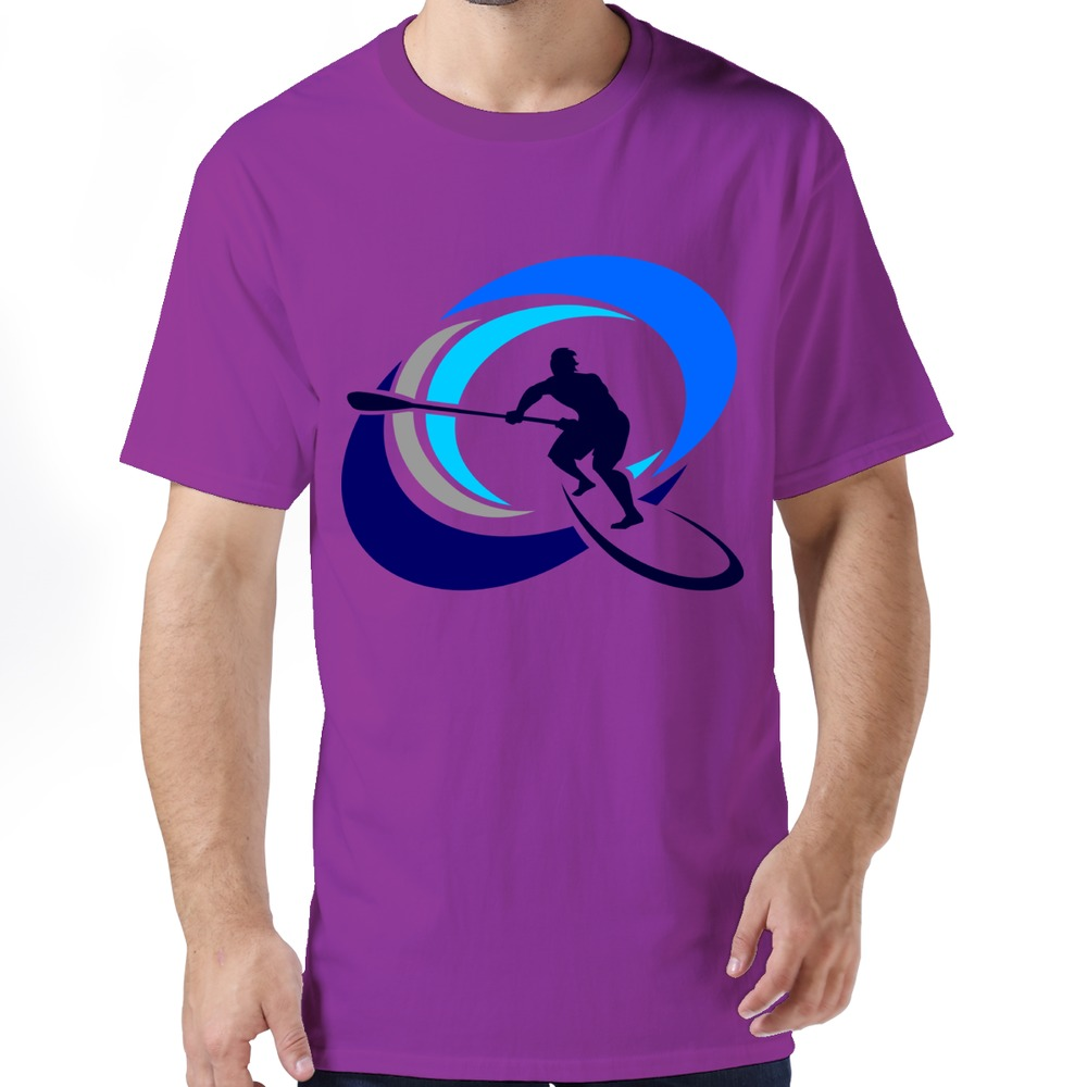 Fashionable Crazy Color Surfing Logo 2015 Man Short Sleeve Pre-cotton t shirt on Sale Men T Shirts(China (Mainland))