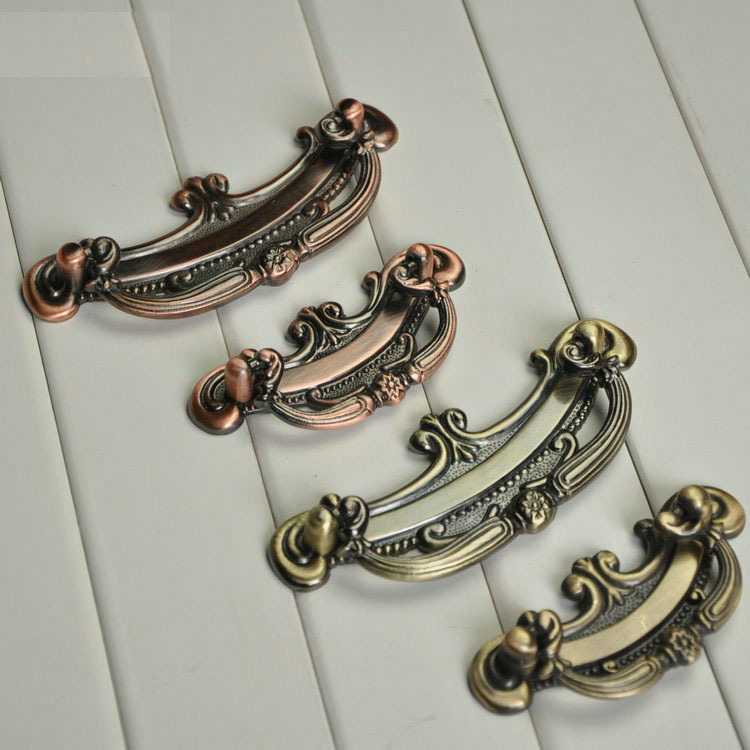 Гаджет  Antique Bronze Copper Drawer Pull Handle Ancient 64mm 96mm Hole Spacing Model A1107 None Мебель