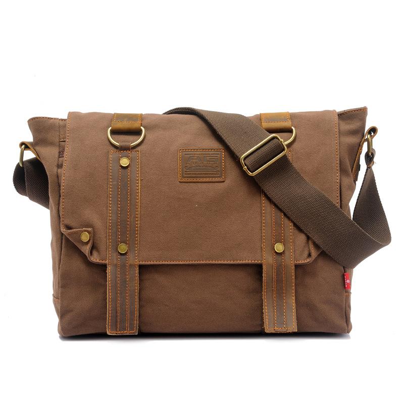 Washed canvas bag Men shoulder messenger bag men's travel bags Men's Crossbody Bags bolsas femininas free shipping от Aliexpress INT