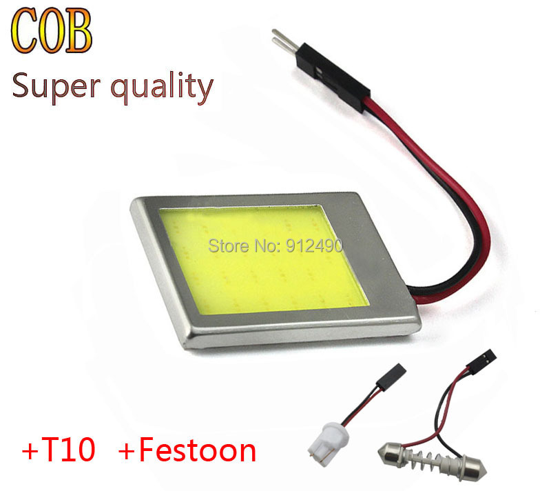 8W Aluminum T10 Dome Festoon Car Interior License Plate COB LED Lamps Light + T10 Interface and Festoon Interface(China (Mainland))
