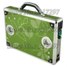 Free Shipping 10W Portable Solar Power Generator Ultra Thin Briefcase Design LED Lighting Music AC Charger
