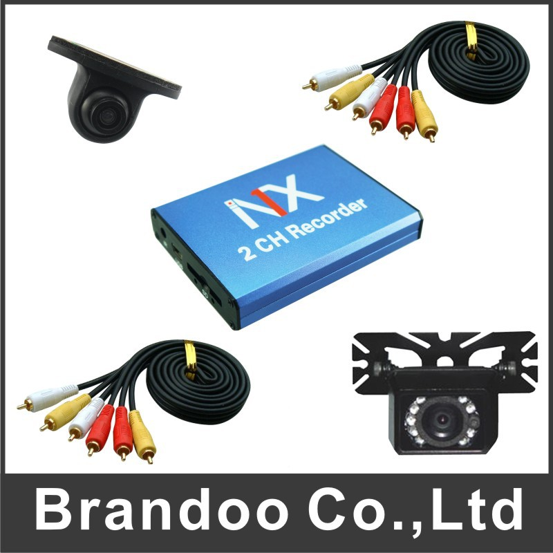 Hot sale in USA 2 channel TAXI DVR system, DIY installation, auto recording,simple mobile DVR system