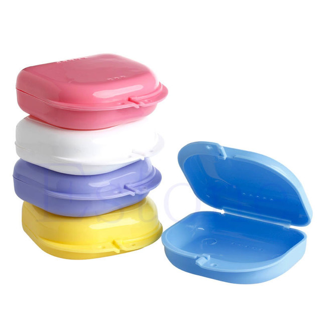 Стоматологическая Ортодонтическое Фиксатор Mouthguard Протезы Хранения Контейнер Дело Box Hot-J117