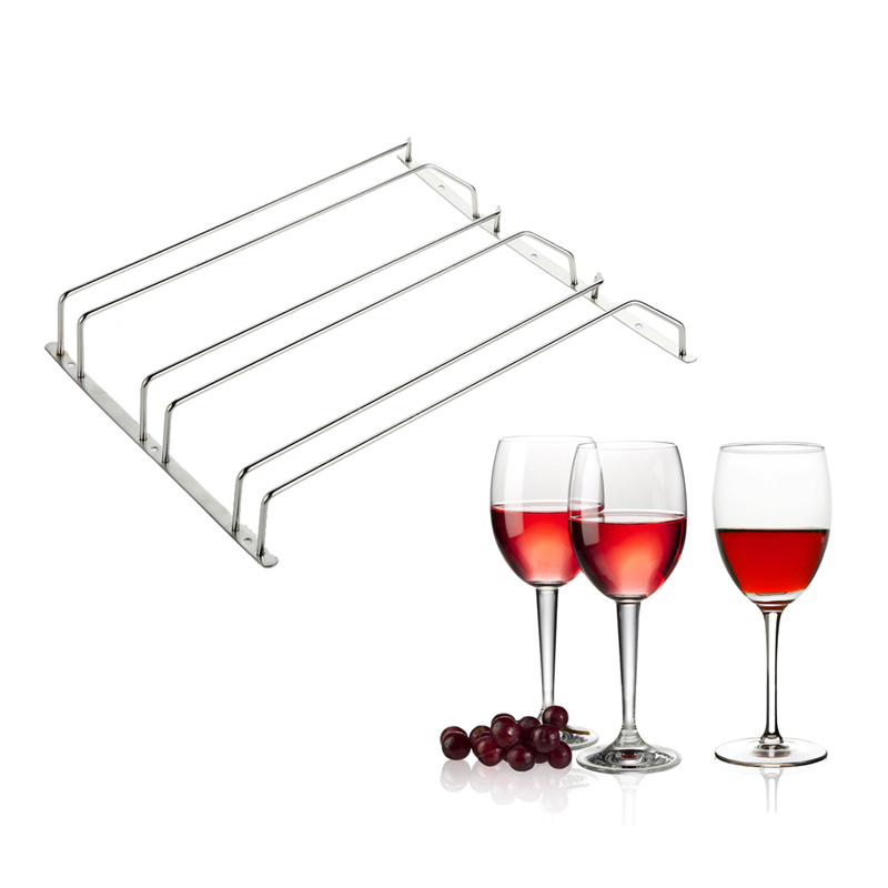 DIU#Hot Selling Wine Glass Holder Stemware Rack Under Cabinet Storage Organizer Free Shipping(China (Mainland))