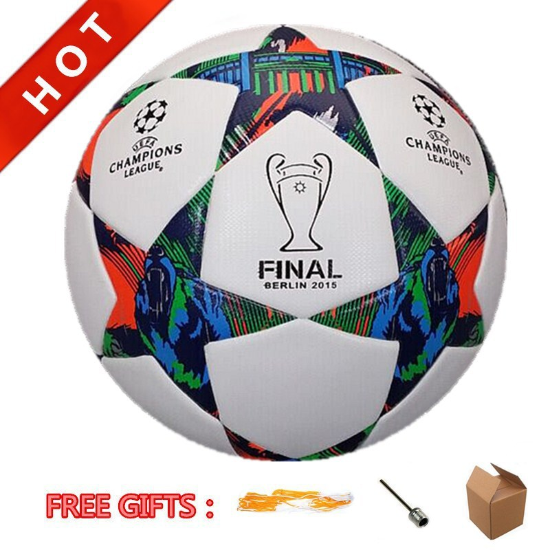 High Quality 2015 Champions League Official Size 5# Soccer Football Ball Bola De Futebol Slip Resistance PU Leather Wholesale(China (Mainland))
