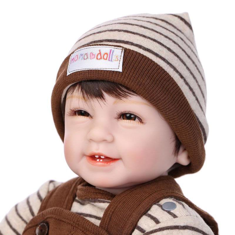55 cm Cuerpo Niño de Algodón Hecho A Mano de Silicona Renacer Muñecas Renacer Bebé Realista Muñeca de Silicona Juguetes Para Niños Juguetes Brinquedos(China (Mainland))
