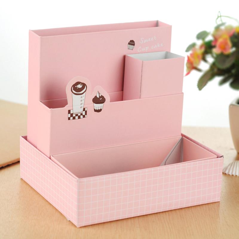 Hot selling mini diy paper board storage desk decor - Desk stationery organizer ...