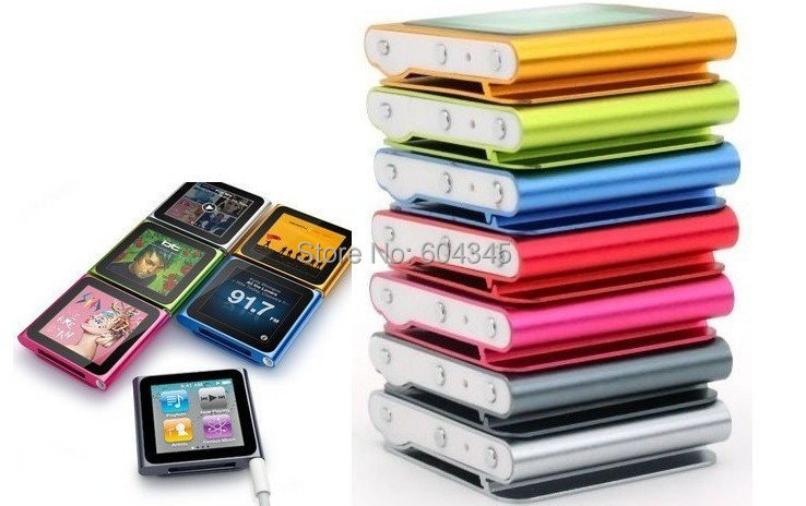 New Arrival 6th Gen 32GB 1.8inch Touch Screen Clip MP3 player FM RAID VIDEO(China (Mainland))