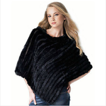 2014 Hot Style Knitted Rabbit Fur Shawl Women Fur Poncho Best Selling Retail Wholesales 7 Colos In Stock Free Shipping 80 % off(China (Mainland))