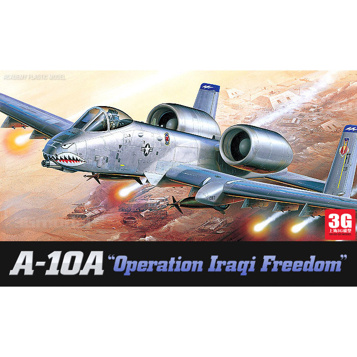 ACADEMY scale model 1/72 scale aircraft 12404 A-10A plastic assembly model kits scale airplane model building kit(China (Mainland))
