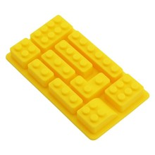 1pcs 10 holes Building Brick Silicone Mold Tray Candy Soap Chocolate Ice Cube Mold Cookies Baking Kitchen accessories Tool