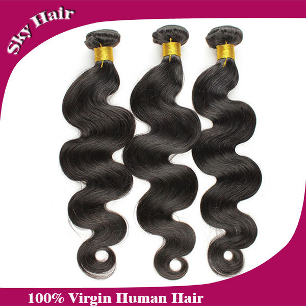 malaysian virgin hair body wave 4pcs per lot 100g unprocessed human hair weaves more wavy sky hair products malaysian body wave(China (Mainland))