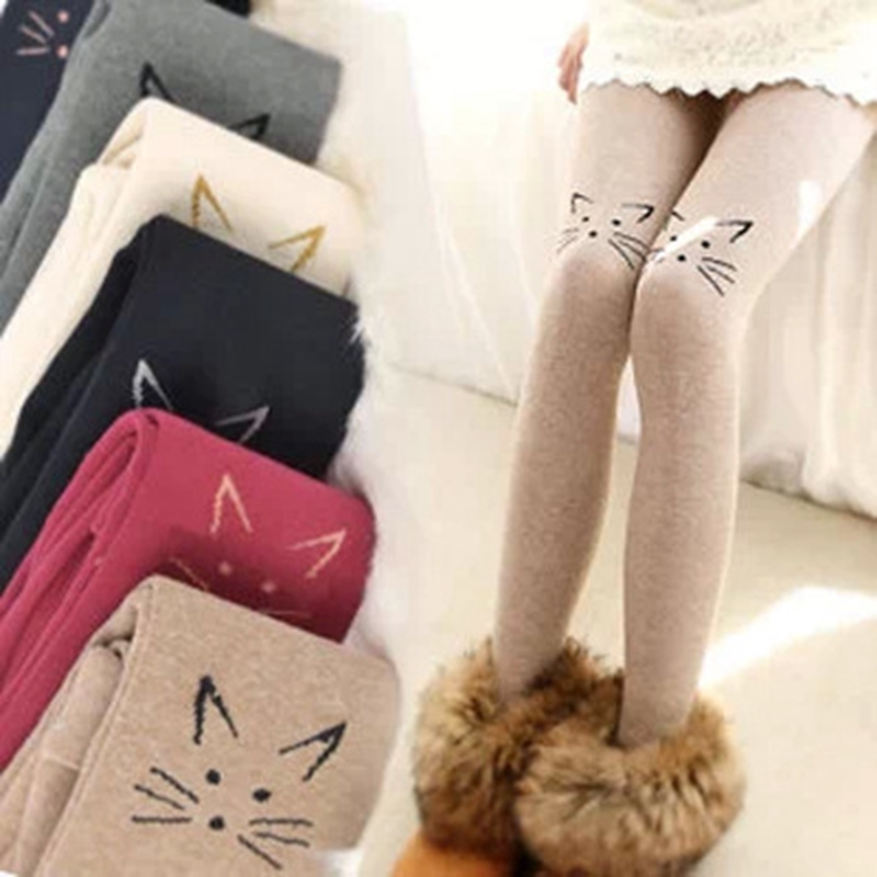 Women Girls Kawaii Kitty Tights Winter Warm Stockings New Fashion Pantyhose Cheap SaleОдежда и ак�е��уары<br><br><br>Aliexpress