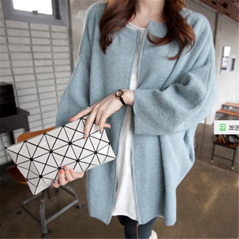 long cardigan women  Batwing Sleeve warm thick sweater  high quality fashion autumn and winter Knitted Coat   vv13