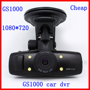 2013 Cheapest GS1000 Car DVR Camera Recorder 1080*720P 30FPS 1.5'' LED Screen 120 View Angle car black box Free Shipping