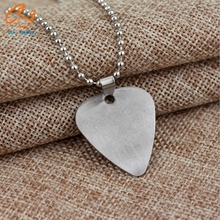 Band Series Popular Band Bon Jovi Green Day Necklace Letter Logo Stainless Steel Plectrum Shape Pendant Jewelry(China (Mainland))