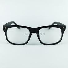 New Women Wayfarer Simple Design Eyeglasses Good Made Optical Frame Rhombus Rivet Imitation Leather Wrap Legs