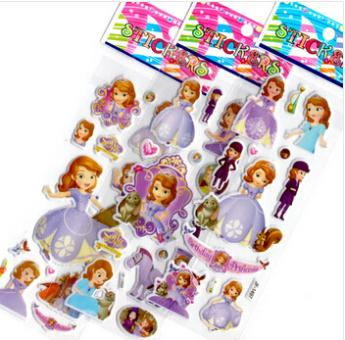 Wholesale 200pcs/lot cartoon princess sofia the first stickers for decoration classic toys, children baby kind girl brinquedos<br><br>Aliexpress