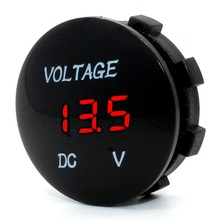 Waterproof LED Digital Display Voltmeter 12-24V DC for Car Motorcycle Boat Marine Truck Rv ATV - Red LED(China (Mainland))