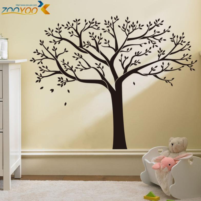 Wonderful tree wall decor home bumper sticker bedroom living room 3D diy removable decal tattoos vinyl wall sticker home decor &(China (Mainland))