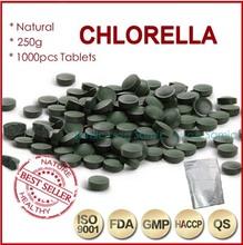 250g (250mgx1000pcs)100% Orangic Chlorella Vulgaris Chlorella Pyrenoidosa Tablet Broken Wall High Quality Rich of Chlorophyll(China (Mainland))