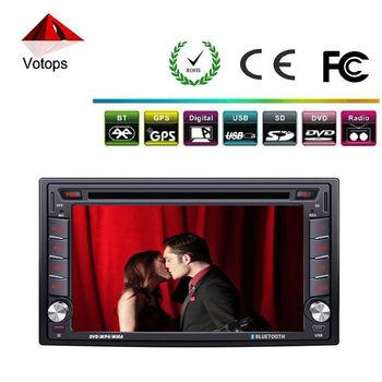 Universal 6.2 car dvd gps 2 din support bluetooth/mp3/mp4/cd/car radio