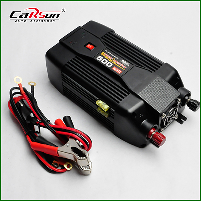 500W Inverter 12V 220V Portable Modified Sine Wave Power Inverter Usb Car Charger For Notebook Laptop(China (Mainland))