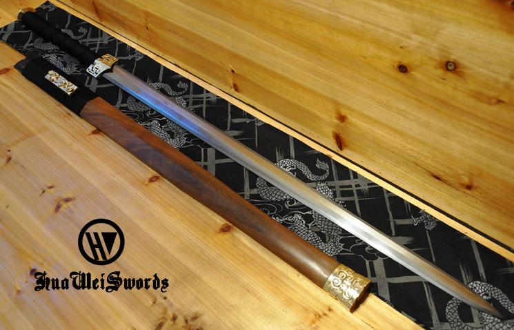 Top Quality Folded steel Eight sided Han Jian Chinese Sword(China (Mainland))