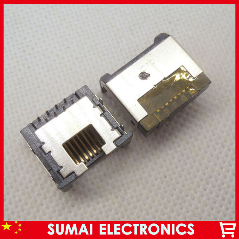 100pcs Original New ethernet rj45 female rj45 connector 8p 8pin network jack ethernet port<br><br>Aliexpress