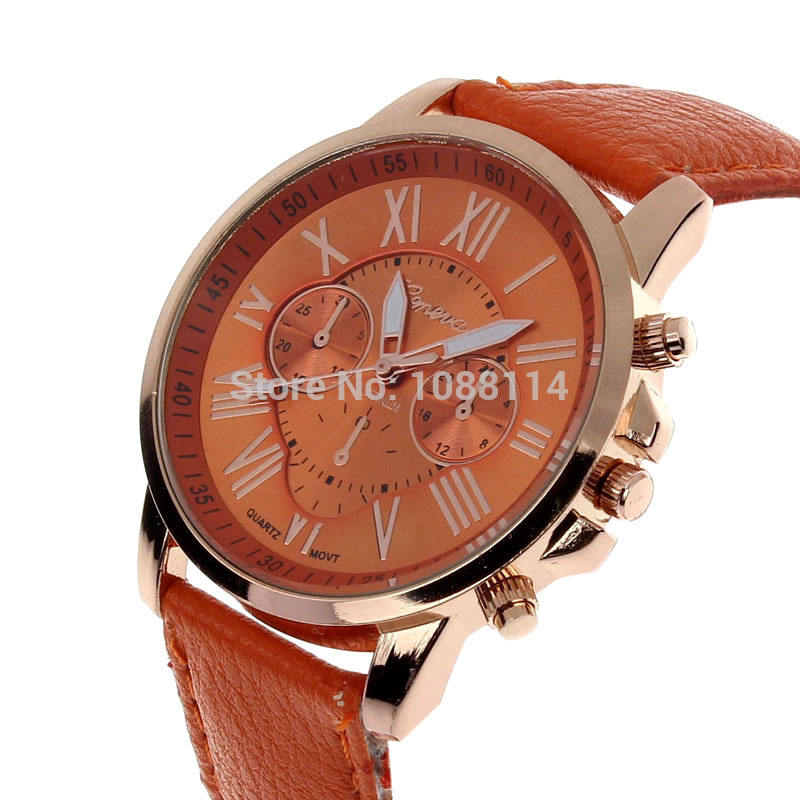 Free Ship 2015 New Roman Numral Watches Women's Watch Metal&Leather Reloje De Marca Clearance Sale Tag Famous Brand Quartz Clock