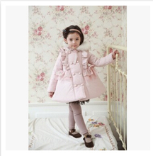 Kids Christmas winter outwear girls winter coat baby clothing Children cotton-padded clothes Outerwear winter keep warm coat