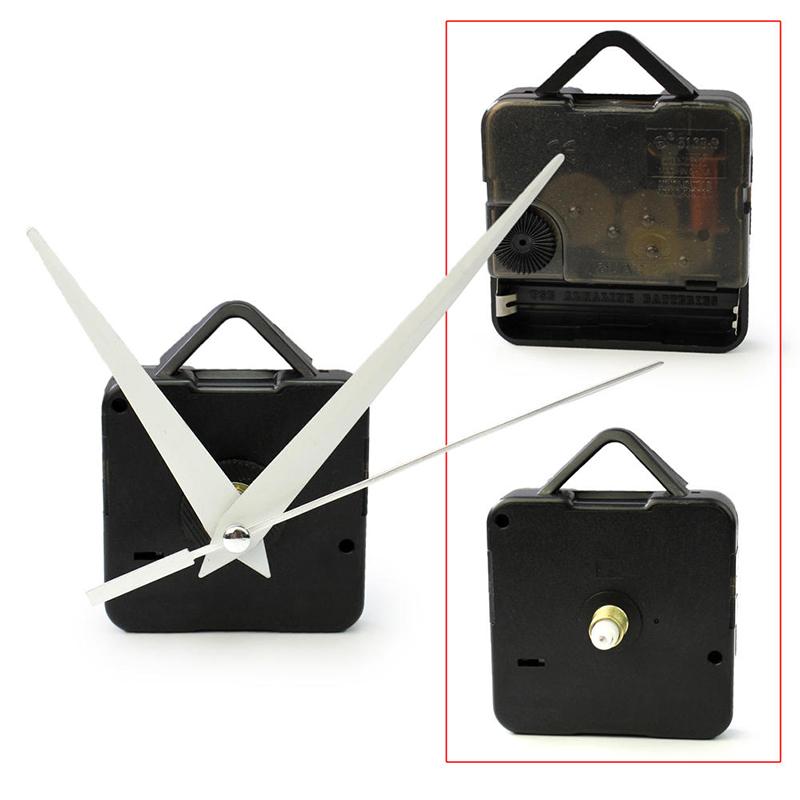 Free shipping Black Quartz Wall Clock White Hands Movement Mechanism DIY Repair Tool Parts Kit WN0411(China (Mainland))