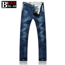 Big Guy Store Skinny Jeans Men Size 38 40 42 44 46 2016 Spring Fashion Korean Male Trousers 428jeans 8829 - BIG GUY STORE OVERSIZED store