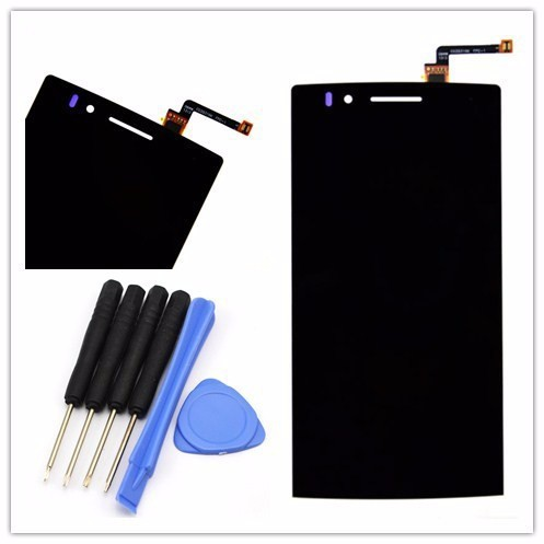 Black for OPPO Find 5 X909 Original LCD Display Screen with touch screen digitizer Glass + tools Free shipping(China (Mainland))