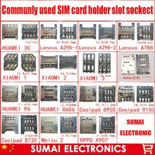 15Modles Communly использовать новые SIM-карты держатель лотка слот адаптера для HUAWEI Lenovo Zte Coolpad OPPO Mobole Телефон Бесплатная доставка