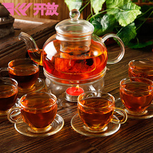Glass tea pot & tea cup set