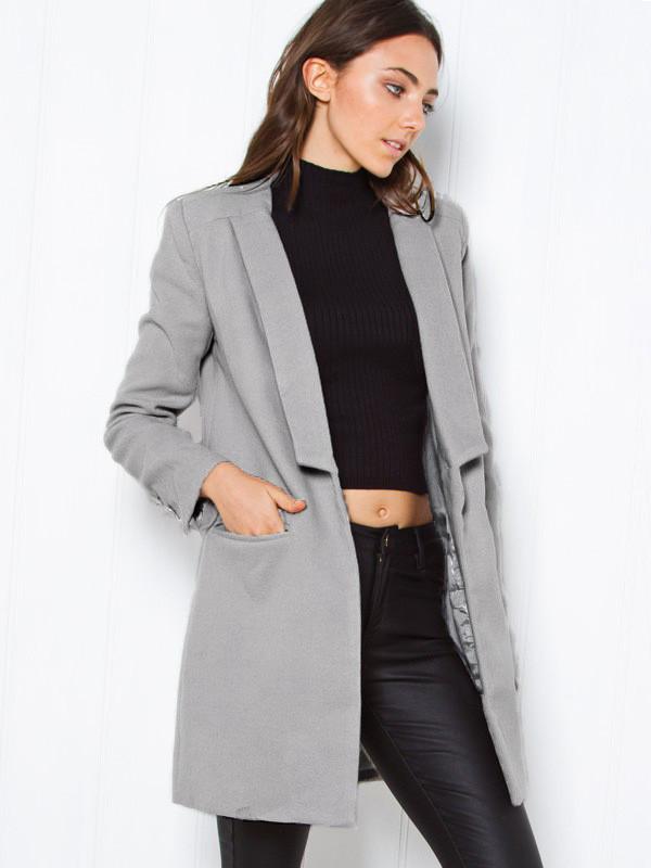 manteau femme gris. Black Bedroom Furniture Sets. Home Design Ideas
