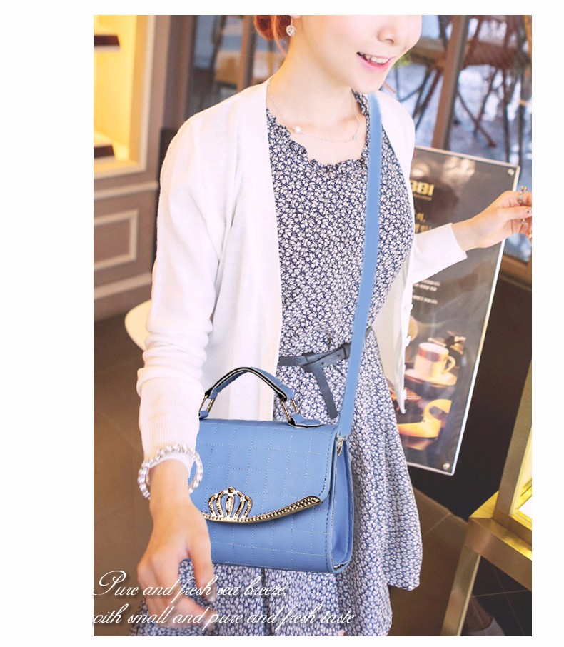 Thread Plaid Fashion Chic Handbag Ladies Elegant Small Flap Bag Women Designer PU Leather Shoulder Bag Casual Crossbody