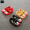 Girls Princess Dance Shoes Mini Melissa Ballet Jelly Sandals Closed Toe Summer Spring Plastic Shoes Chaussures Ballerine Fille