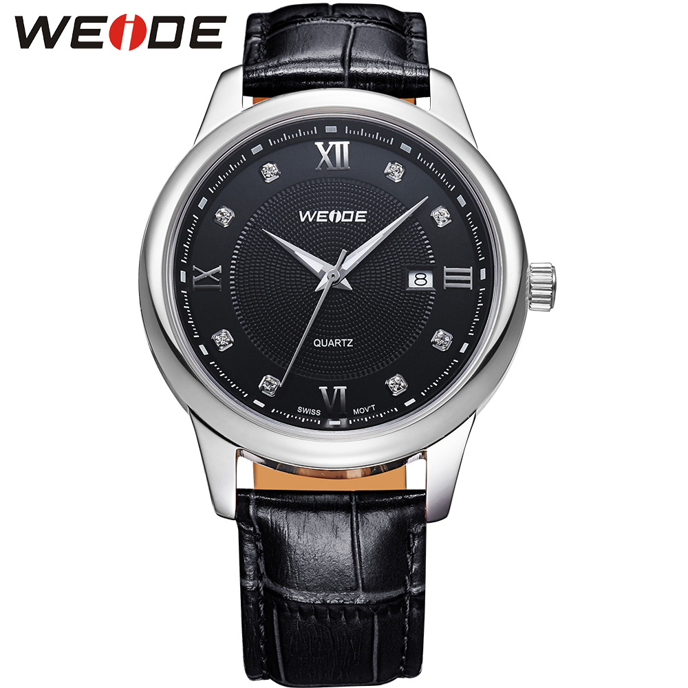 2015 WEIDE Ultra Thin Solid Stainless Steel Water Resistant Quartz Genuine Leather Strap WatchesFashion&amp;Casual Watch Gifts<br><br>Aliexpress