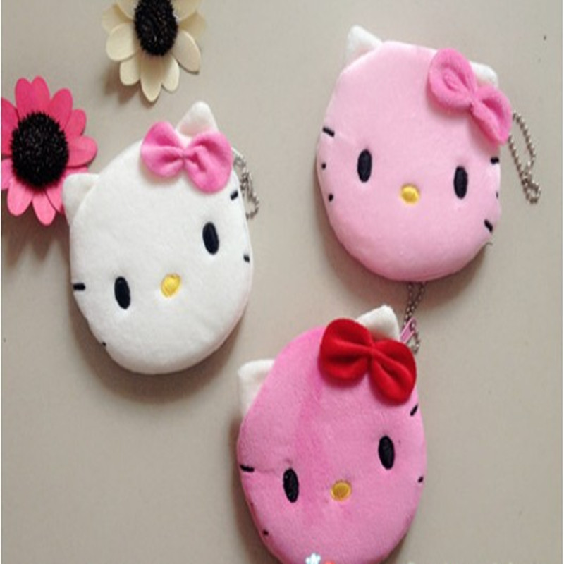 1Pcs Coin Purse & Wallet Pouch Lady's Purses Plush Hello Kitty Kids Girl's Storage Bag Case Handbag Women 10CM Free Shipping(China (Mainland))