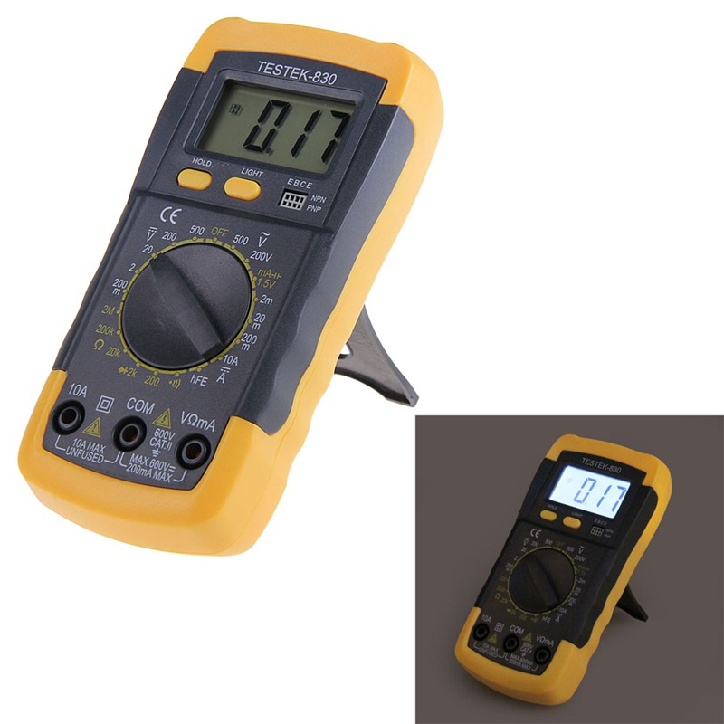Digital Multimeter tester clamp meter Electrical LCD AC DC Voltmeter Ohmmeter Multi Testers High quality free shipping(China (Mainland))