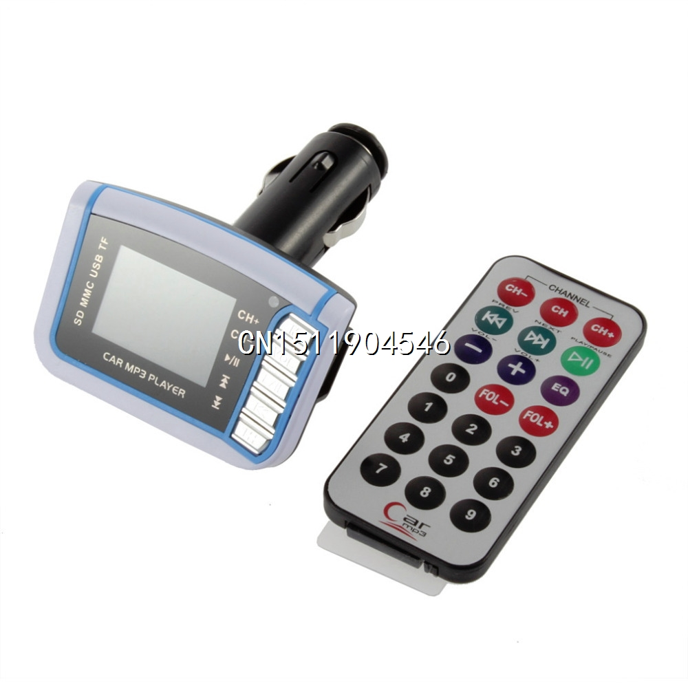 1pcs Car MP3 Player with Remove Control SD TF Card 1.44 inch LCD Wireless FM Transmitter Wholesale(China (Mainland))