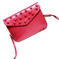 vintage PU leather women rivet shoulder bag brand crossbody bag sling bag clutch purse messenge bag