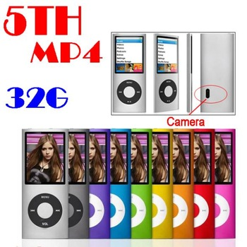 by dhl or ems 20 pieces 5th 32GB hot player 2.2 LCD Camera Scroll Wheel 1.3MP Camera Fashionable mp4 player(China (Mainland))