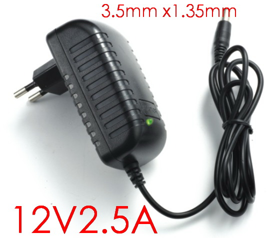 100PCS High quality 12V 2.5A Tablet Battery Charger AC Adapter for Cube i7 Cube i9 tablet pc Power Supply Adapter 3.5mmx1.35mm(China (Mainland))
