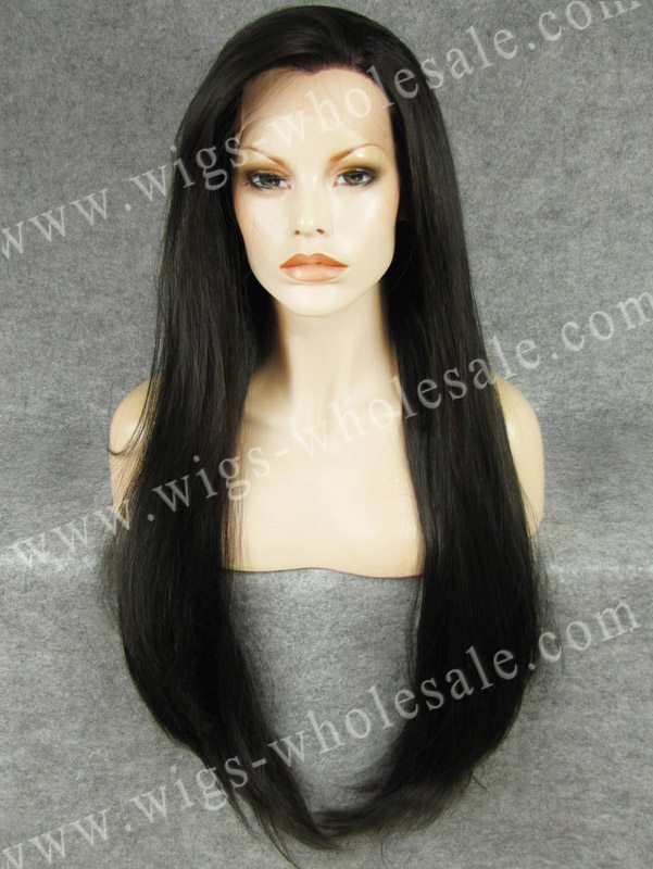 Extra Long 30 Inch Wig Natural Black Synthetic Lace Front Wig Gabor Long Hair Drag Queen Wigs<br><br>Aliexpress