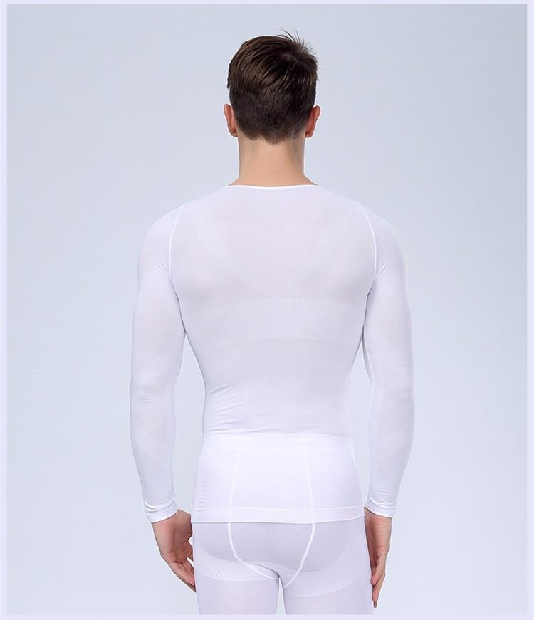 Горячие продаж новые люди похудения Shapewear пластика управления с длинным рукавом
