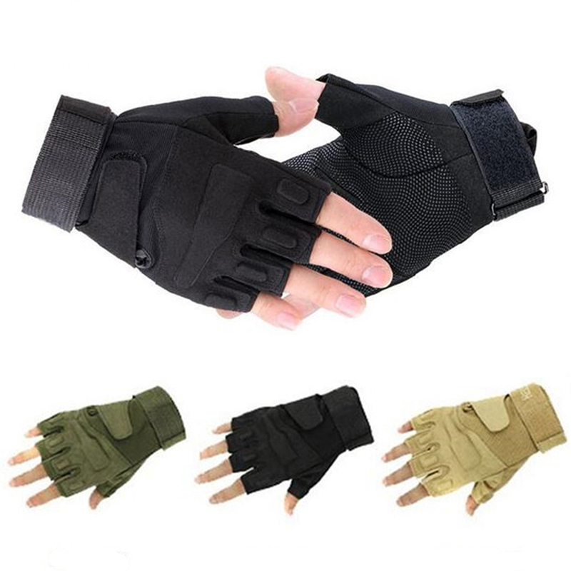 High Quality Military Tactical Gloves Gym Men Fighting Half Finger Army Gloves Fitness Anti-slip Outdoor Sports Gloves M/L/XL(China (Mainland))