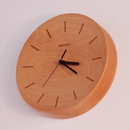 Beladesign free shipping Wooden wall clock digital wall clock wooden clock quartz clock(China (Mainland))